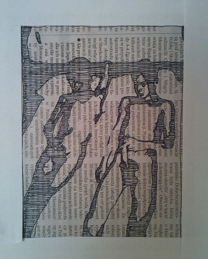 onanizm, rysunek - Pitr Smogór