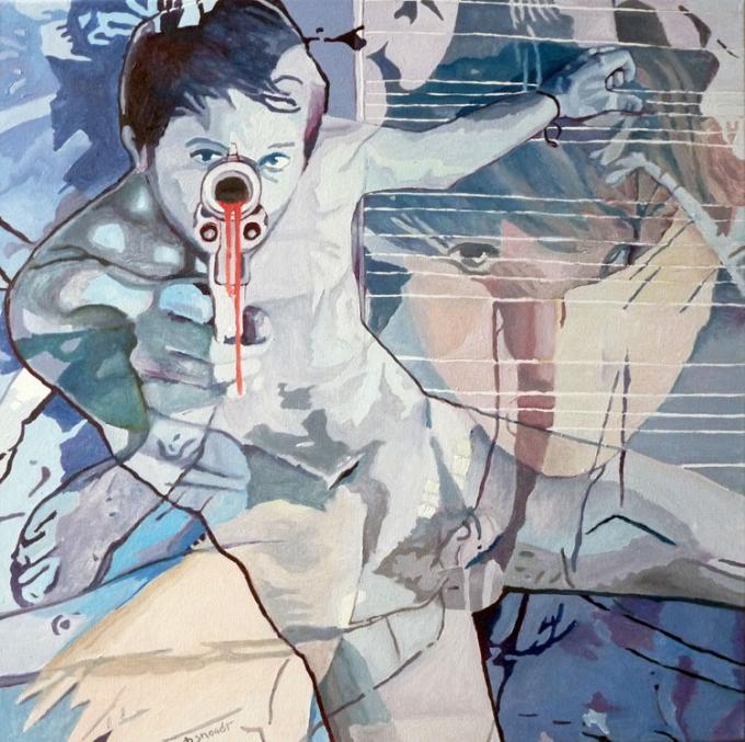 goons, oil on canvas, 60x60, 23.08.2014 Wrocław
