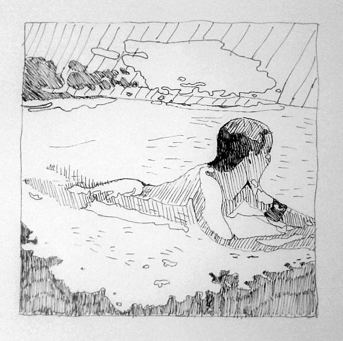postać w wodzie - Piotr Smogór