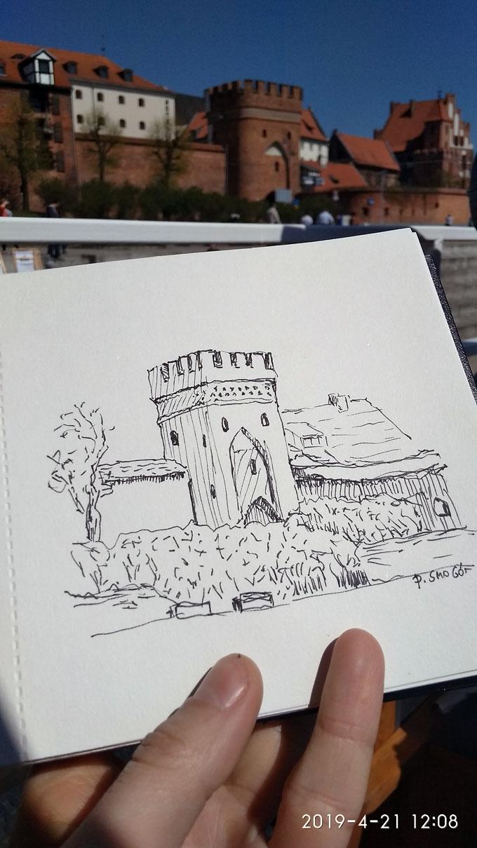 Toruń - rysunki - Piotr Smogór