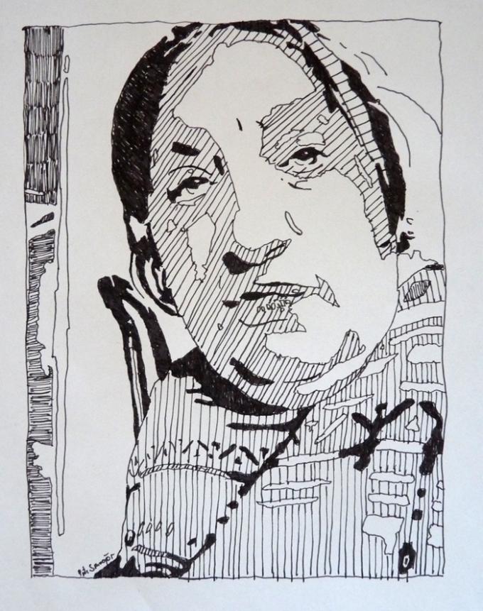 mama2, rydunek cienkopisem, Piotr Smogór