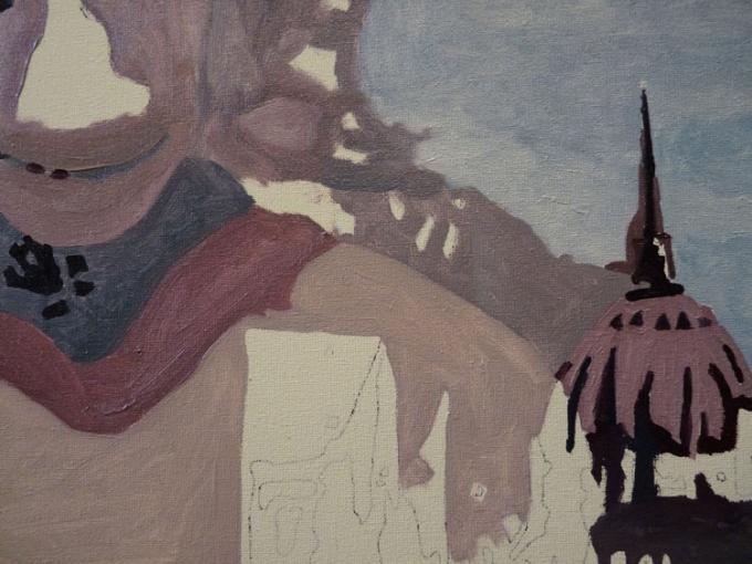 budapest - fragment - malarstwo olejne Piotr Smogór