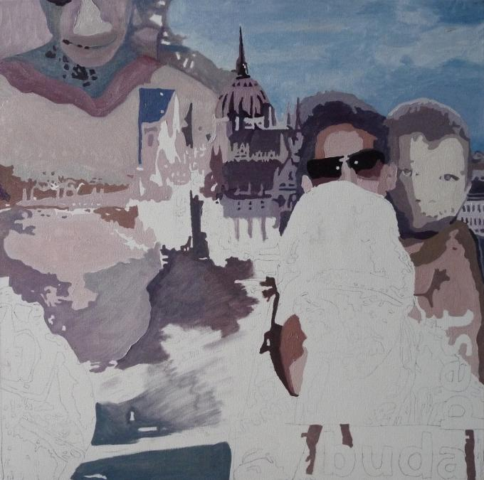Piotr Smogór - malarstwo, budapest on progress