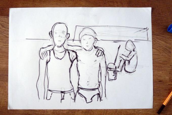 bracia z wajzla, szkic, Piotr Smogór