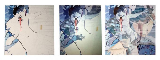 goons, oil on canvas, 60x60