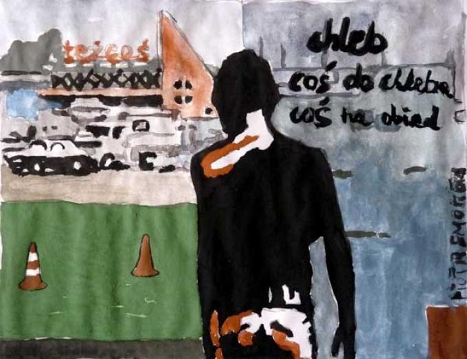 malarstwo Piotr Smogór, zakupy, 31.03.2013 Kłodzko