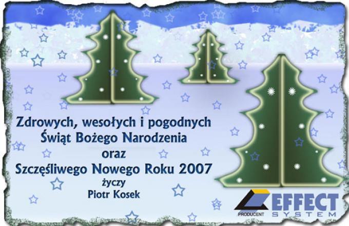 Kartka Świąteczna, grafika komputerowa, 2003