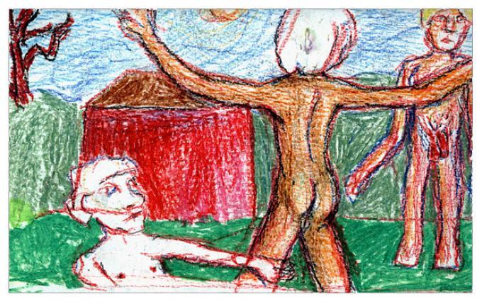 Obrzęd, pastel na papierze 2006
