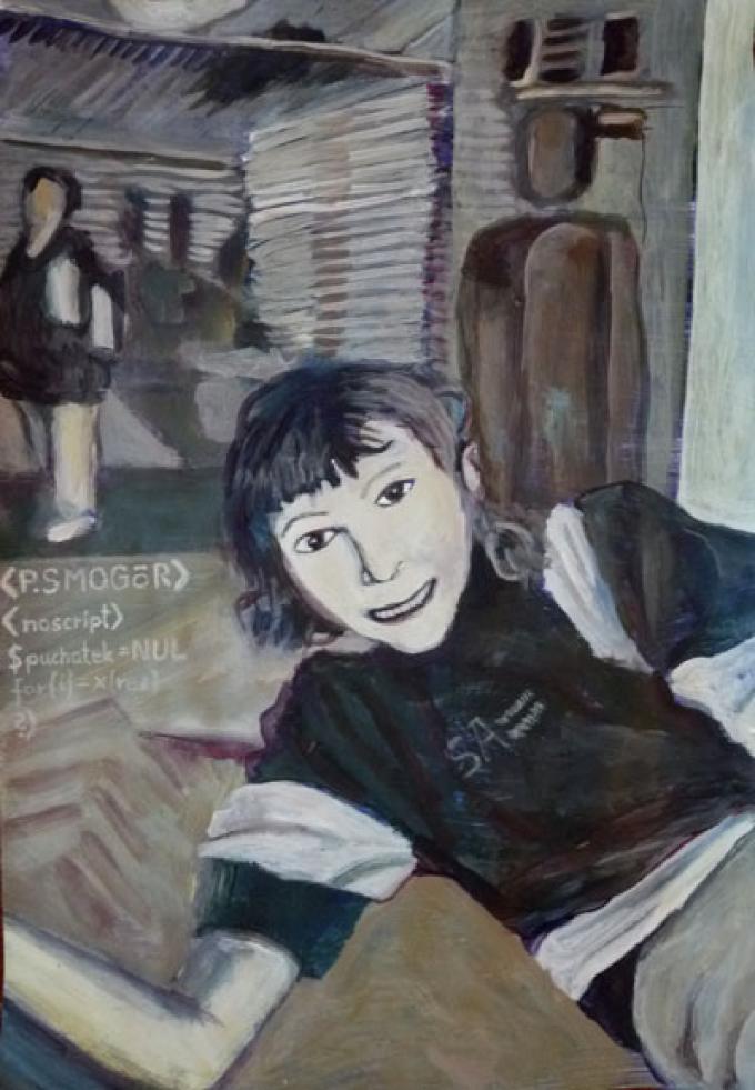 NUL, akryl na papierze, 34x48, 10 październik 2010, Kłodzko