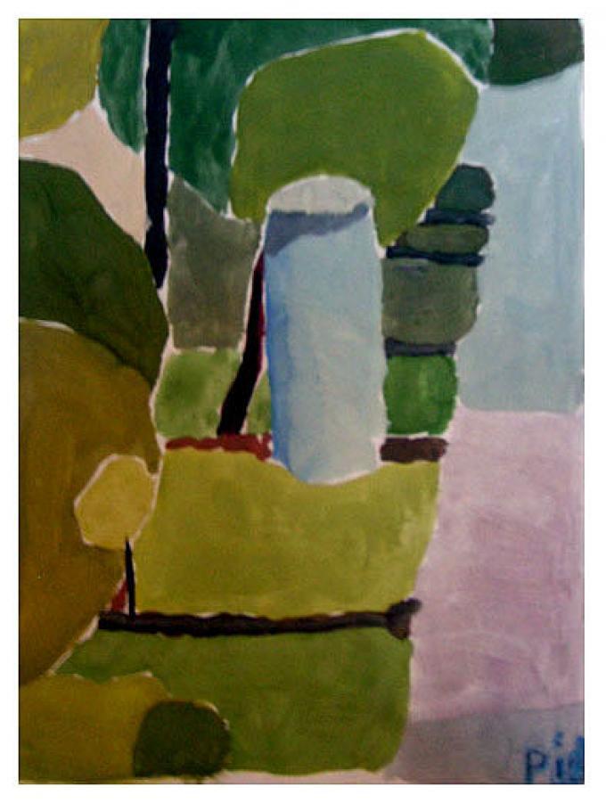 Słup, akwarela na papierze, 2008