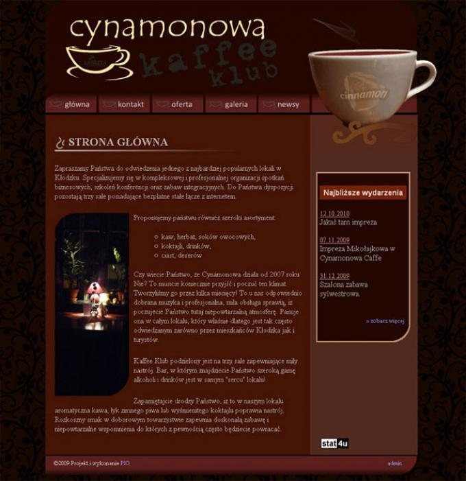 cynamonowa, strona internetowa
