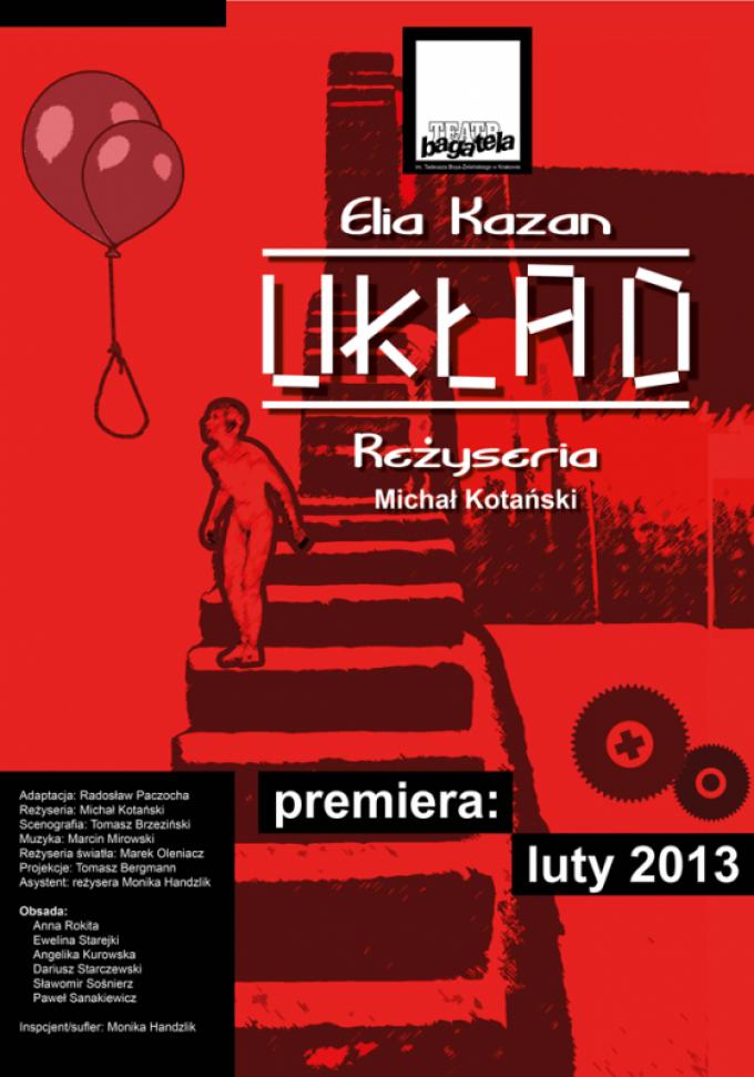 Układ, plakat spektaklu, 2012, Wrocław