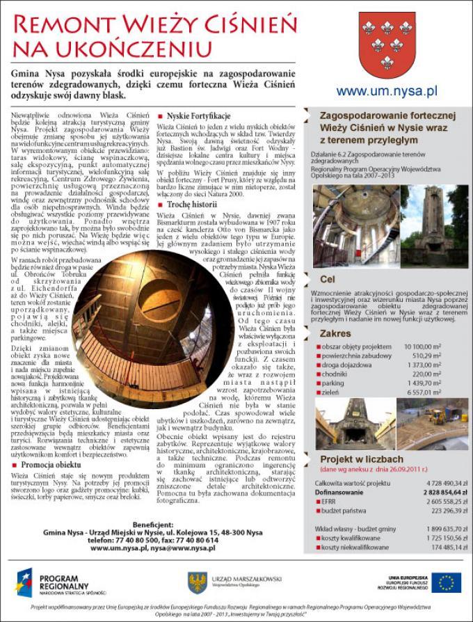 Wieża Ciśnień, reklama prasowa, 2012, Wrocław