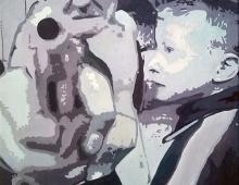 goons_2, oil on canvas 50x60 Piotr Smogór