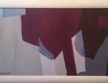 Dwie koszule, akryl na dykcie 96x56, Wrocław, 25.11.2012