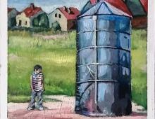 czerwone dachy i silos - Piotr Smogór