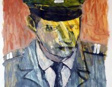 Piotr Smogór - malarstwo - portret nieznanego żołnierza