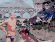 bather - oil on canvas 50x50, Piotr Smogór