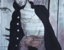 malarstwo akt męski - tempera na kartonie Piotr Smogór