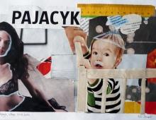 pajacyk,collage, papier A4 - Piotr Smogór