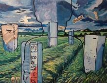 obecnośc, olej na płótnie 60x90 - Piotr Smogór