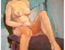 akt, olej na kartonie, ok 120x90, 1997