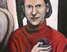 Ania,akryl na kartce ok 40x25 cm, 20.02.2012 Wrocław