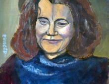 Barbara, akryl na kartce 46x51, 20.02.2012 Wrocław