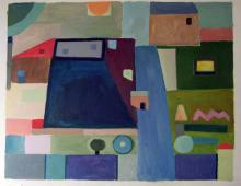 Dom 0, olej na dykcie, ok 1999