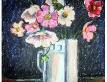 Kwiaty, pastel na papierze, 2007