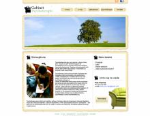 Gabinet Psychoterapii,  wersja nr 1, layout strony www