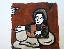 Schimbarea la fata,(wdg. Iconae pe sticla) gwasz na papierze, 03.11.2012 Kłodzko