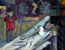 Śmierć Krzyśka, akryl na papierze, 2009, Kłodzko
