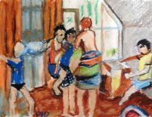 Szamotanina, pastel na papierze,10.10.2009