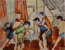 Szamotanina 4, pastel na papierze, 24.11.2009
