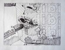 tibi_dibi, Piotr Smogór, rysunek cienkopisem, 01.04.2013 Kłodzko